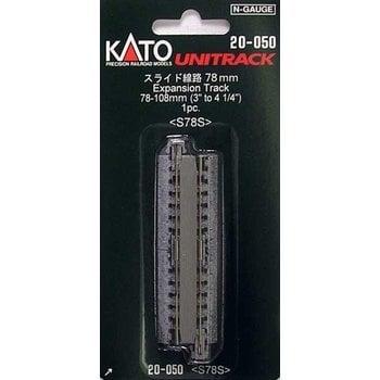 "Kato Trains Kato Straight Roadbed Expansion Track Section - Unitrack -- 3 - 4-1/4""  78-108mm # 20-050"