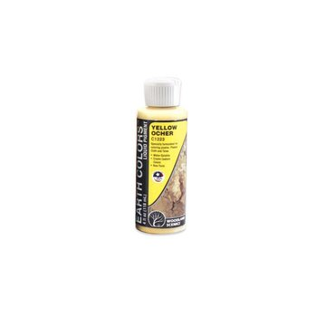 Woodland Scenics Earth Colors Liquid Pigment  4oz Yellow Ocher # 1223