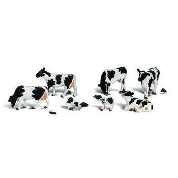 Woodland Scenics HO Black & White Cows # 1863