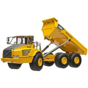 Cararama Volvo A40D Construction Tipper Dump Truck - Assembled -- Yellow, Black