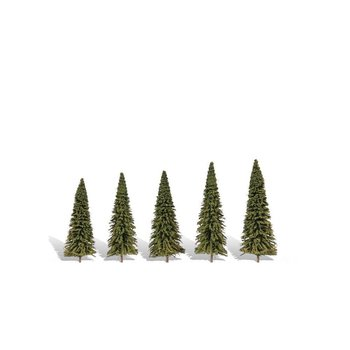 Woodland Scenics 5 Pack Forever Green Trees # 3565