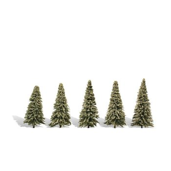 "Woodland Scenics Classic Trees Blue Needle pkg(5) 2-1/2 to 4"" 6.3 to 10.1cm Tall # 3566"