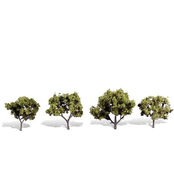 """Woodland Scenics Classic Trees Early Light pkg(4) 2 to 3""""  5.1 to 7.6cm Tall # 3503"""