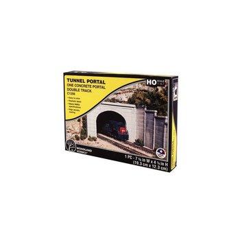 Woodland Scenics HO Double-Track Tunnel Portal (Hydrocal Plaster Casting) Concrete # 1256
