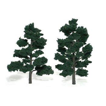 "Woodland Scenics Dark Green 6""-7"" Trees # 1517"