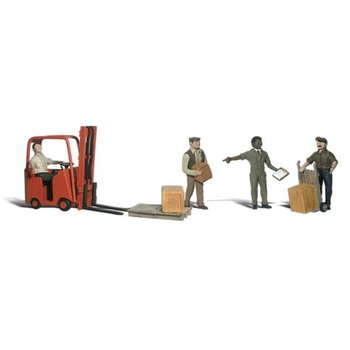 Woodland Scenics HO Workers w/Forklift # 1911