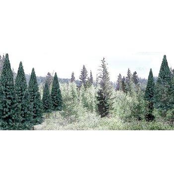"Woodland Scenics Blue Spruce Tree Value Pack - Ready Made Trees(TM) -- 2 - 4""  5.1 - 10.2cm pkg(18) # 1587"
