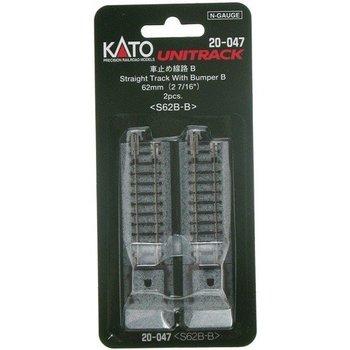 Kato Trains Kato N(62MM) Straight Track Bumper (2) # 20-047