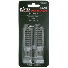 Kato Trains Kato N 62mm Straight w/Bumper A/ (2pc) 20-046
