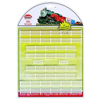 Model Power White Picket Fence # 6085