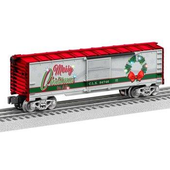 PRE-ORDER Lionel O Gauge Christmas Light Express Boxcar #2028300