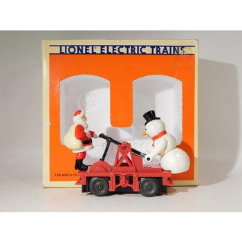 Pre-Owned Lionel O Gauge Santa & Snowman Operating Handcar #TOTES # 6-18426 C#187
