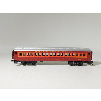 "Atlas N Scale Conway Scenic Railroad #1158 ""Whitehorse Ledge"" 60' Coach #50005028"