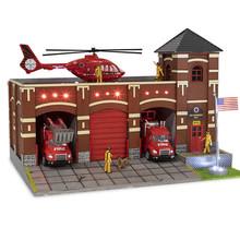 Menards O Scale Fire Station No.9 # 2795927