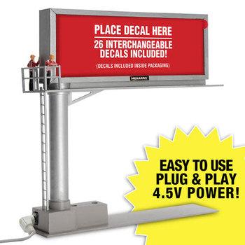 Menards O Scale 26-Sign Lighted Billboard (Decal Set #2) # 2794289