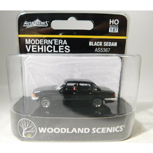 Woodland Scenics HO Scale Black Sedan # AS5367