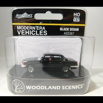 Woodland Scenics HO Scale Black Sedan # AS5367