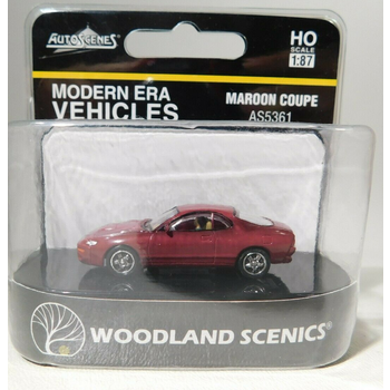Woodland Scenics HO Scale Maroon Coupe # AS5361