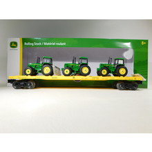 Lionel O Gauge John Deere Flatcar w/ 3 Tractors #2028380