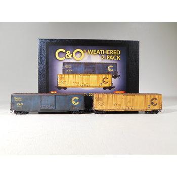 Micro-Trains N Scale Chessie C&O Weathered 2-Pack #99305740