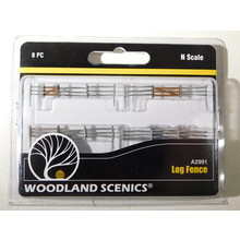 Woodland Scenics N Scale Log Fence #A2991 #TOTES1