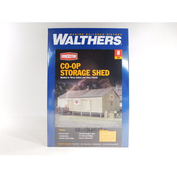 Walthers N Scale Co-Op Storage Shed # 933-3230