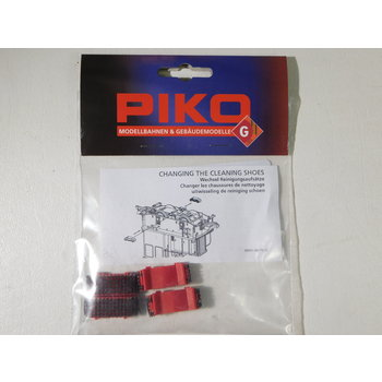 PIKO G Scale Track Cleaning Shoes, Clean Machine, 2 Sets #35416