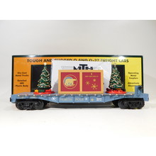 MTH O Gauge North Pole Flatcar w/ Lighted Christmas Trees #30-76824