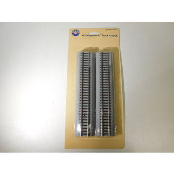"""Lionel  HO Scale 9"""" Straight MagneLock - 4 Pack #871818020"""