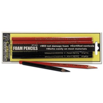 Woodland Scenics Red and Black Pencils # 1431