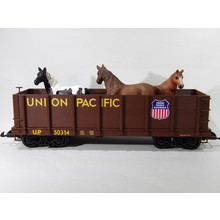 PIKO G Union Pacific Gondola with Horses # 38725