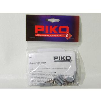 PIKO Metal Crankpins - 36.5mm Starter Set Wheels (Set of 6) # 36093