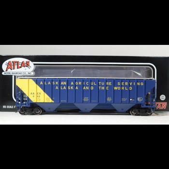Atlas HO Alaska Thrail # 0002 Covered Hopper Cars # 20005463