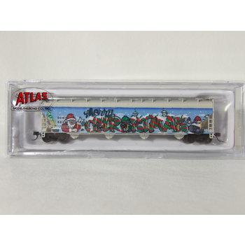 Atlas N ACF 5800 Plastics hopper # 66122 ( Christmas Graffiti ) # 50005645