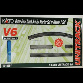 Kato Trains Kato N V6 Outside Loop Track set # 20-865-1