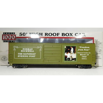 PRE-OWNED Norman Rockwell 50' Freedom from Fear Boxcar #85953