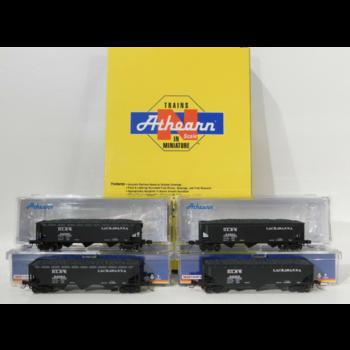 Athearn N DLW 40' 3 Bay Hopper 4 pack #ATH5128