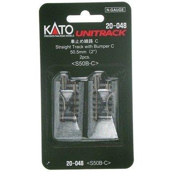 Kato N 64MM Straight Track Bumper (2) #20-048 #TOTES1