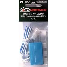 Kato Trains Kato N 3-Way Extension Cord/90cm # 24-827