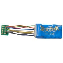 "Digitrak HO 1.5 Amp Premium HO Scale Decoder with Digitrax Easy Connect 9 Pin to DCC Medium Plug 1.0"" harness # DH166PS"