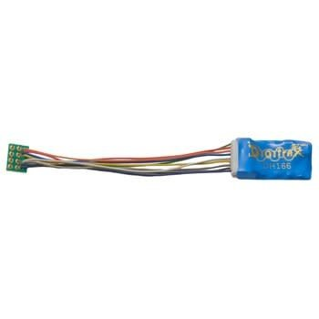 """Digitrak HO 1.5 Amp Premium Decoder with Digitrax Easy Connect 9 Pin to DCC Medium Plug 3.0"""" harness # DH166P"""