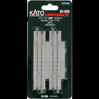 Kato Trains Kato N Unitrack -- Rerailer Track pkg(2) # 20-026