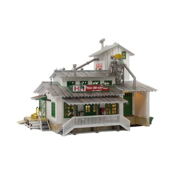 Woodland Scenics N Scale H&H Feed Mill # BR4949