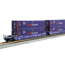 Kato Trains Kato N Scale Gunderson Maxi Double Stack Pacer with Containers # 106-6179