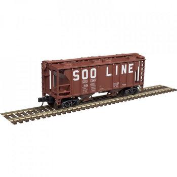 Atlas N Soo line PS-2 Coverd Hopper #6845 # 50004176