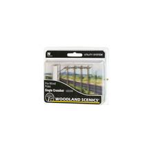 Woodland Scenics N Pre-Wired Utility System Single Crossbar Poles # US2250