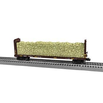 Lionel O BNSF #545512 Bulkhead Flatcar with wood load # 2043092