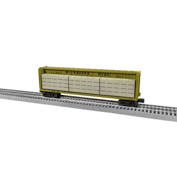 Lionel O Milwaukee #6336 Road Center Beam Flatcar with wood load # 204053