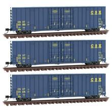 Micro-Trains Line N CSX High-Cube 3 Pack boxcar set # 99301860