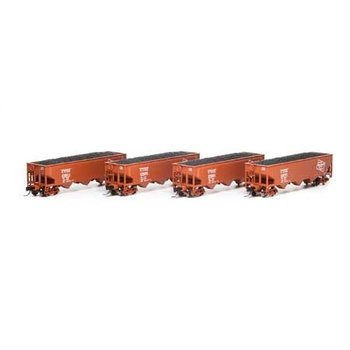 Athearn N Milwaukee 3 bay Offset Hopper 4 Pack # ATH51171